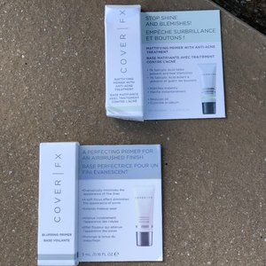 LOT OF 2 COVER FX MATTIFYING PRIMER & ONE ACNE